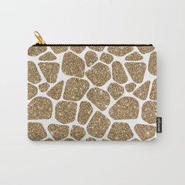 Glitter Giraffe Animal Print Pattern Carry-All Pouch