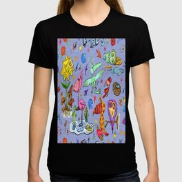 Birds and flowers T-shirt