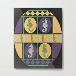 Seahorse Parade Metal Print