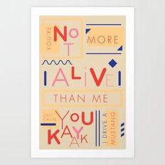 Haikuglyphics - Do the Dew Art Print