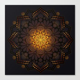 """Warm light Moroccan lantern Mandala"" Canvas Print"