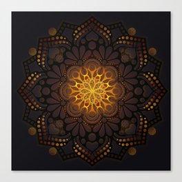 """Warm light Moroccan lantern Mandala"" Canvas Print"