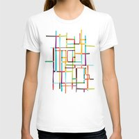 mondrian T-shirts featuring The map (after Mondrian) by Picomodi