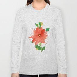 nasturtium floral Long Sleeve T-shirt