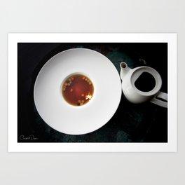 The Art of Food Gold Leaf Beef Tea Art Print