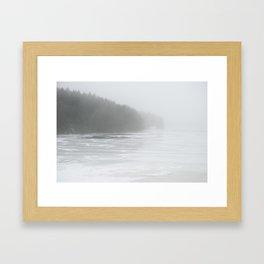 Mist and Snow Framed Art Print