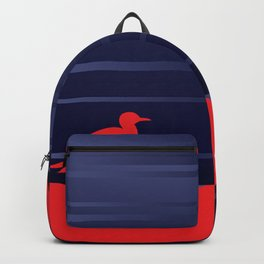 Simple Graphic Bird and Moon Backpack