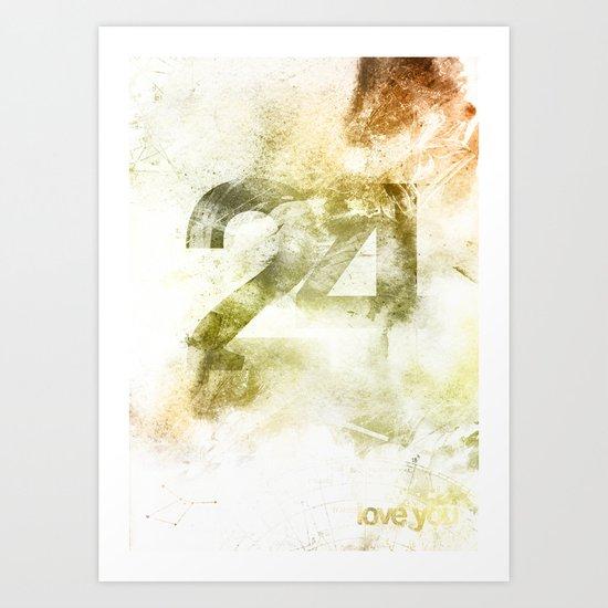 24 Art Print