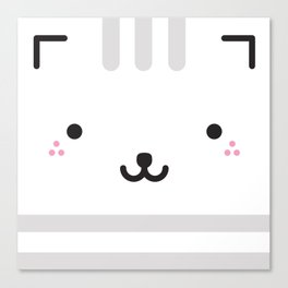 kitty squared Canvas Print