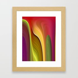 Tall And Short Colorful Abstract Framed Art Print