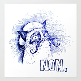 Le Chat Qui Aime Rien Art Print