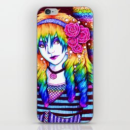Rainbow Hair iPhone Skin