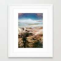 magic the gathering Framed Art Prints featuring Plains - Magic: The Gathering by vmeignaud