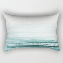 hazy emerald sea Rectangular Pillow