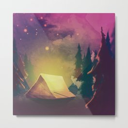 Night in th forest Metal Print