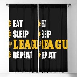league of legends eat sleep leageu repeat Blackout Curtain