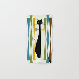 Mid-Century Modern Art Cat 2 Hand & Bath Towel