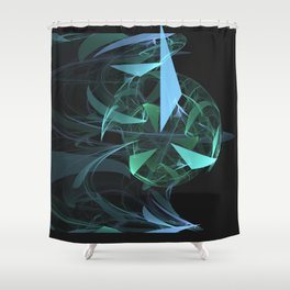 Geometric Cosmic Light 27 Shower Curtain