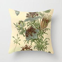 Spanish Fennel Flower Throw Pillow