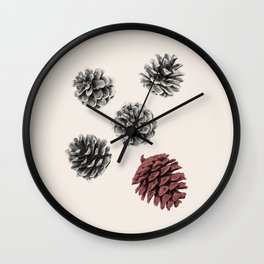 Pine cones Wall Clock