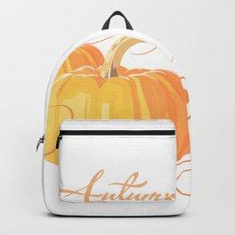 Golden Orange Autumn Pumpkins Backpack