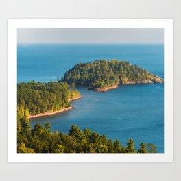 Little Presque Isle on Lake Superior Art Print