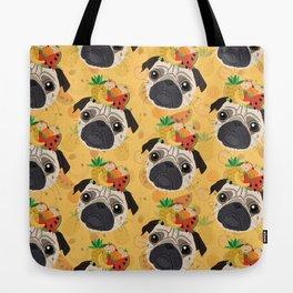 Pug Tropicana Tote Bag