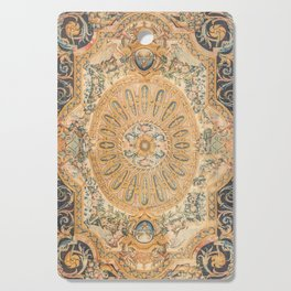 Louvre Fame Carpet // 16th Century Sunflower Yellow Blue Gold Colorful Ornate Accent Rug Pattern Cutting Board