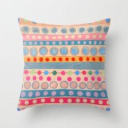 Fusion Multi Dots & Stripes #2 Throw Pillow