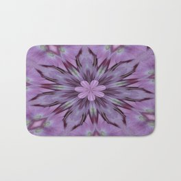 Floral Abstract Of Pink Hydrangea Flowers Bath Mat