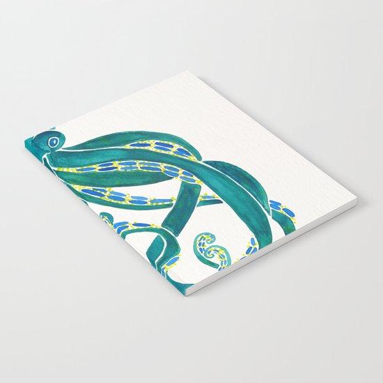 Watercolor Octopus Notebook