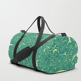 Scattered Critters Pattern Duffle Bag