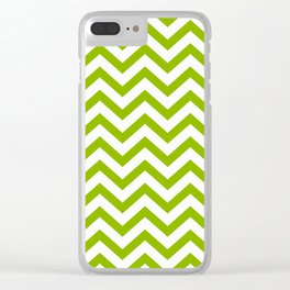 Simple Chevron Pattern - Apple Green & White - Mix & Match with Simplicity of Life Clear iPhone Case