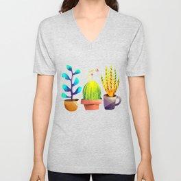 Cactus Friends Unisex V-Neck