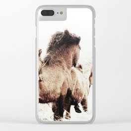 WILD AND FREE 2 - HORSES OF ICELAND Clear iPhone Case