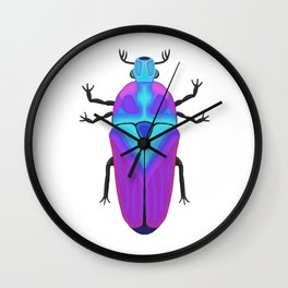 Colorful Beetle Bug #2 Wall Clock