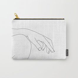 Minimal hand on knee line drawing - Bliss Carry-All Pouch