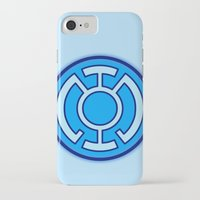 green lantern iPhone & iPod Cases featuring Green Lantern: Blue Lantern by The Barefoot Hatter