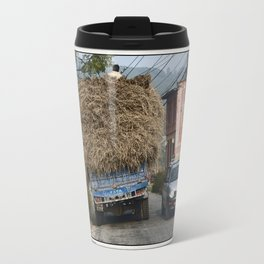 NEPALI HAY RIDE ON THE ROAD TO NAGARKOT Travel Mug