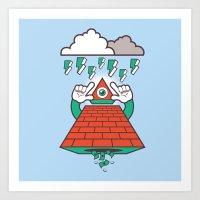 illuminati Art Prints featuring Illuminati by Tshirtbaba