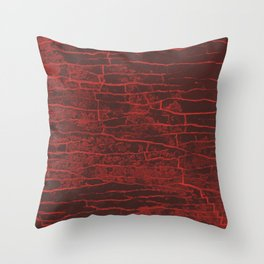 Red Grey Stone Throw Pillow