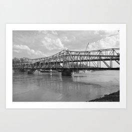 railroad bridge Art Print