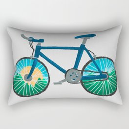 Bike Ride Rectangular Pillow