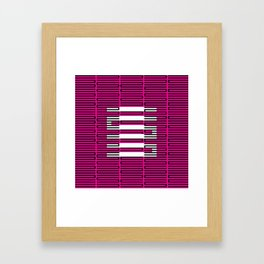 Licorice Bytes, No.3 in Black and Pink Framed Art Print