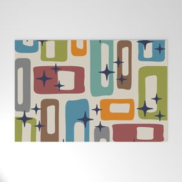 Retro Mid Century Modern Abstract Pattern 224 Welcome Mat