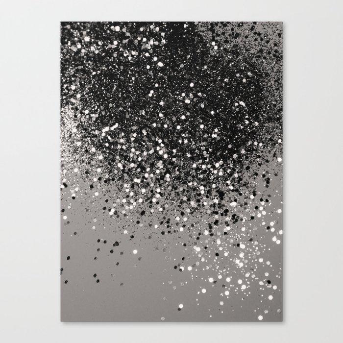 Silver Gray Glitter #1 #shiny #decor #art #society6 Leinwanddruck