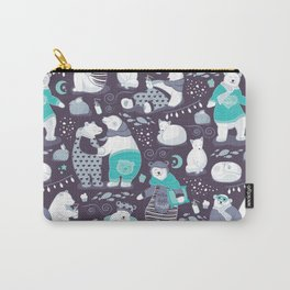 Arctic bear pajamas party Carry-All Pouch