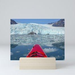 Paddling to Aialik Glacier Mini Art Print