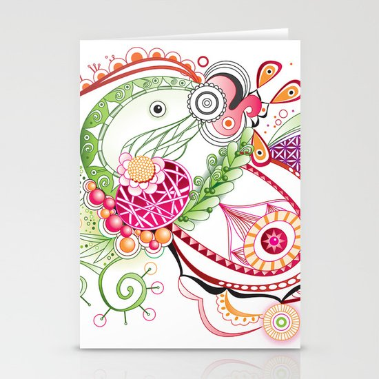 Spring tangle Stationery Cards