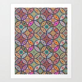Colorful Mandala Art Print